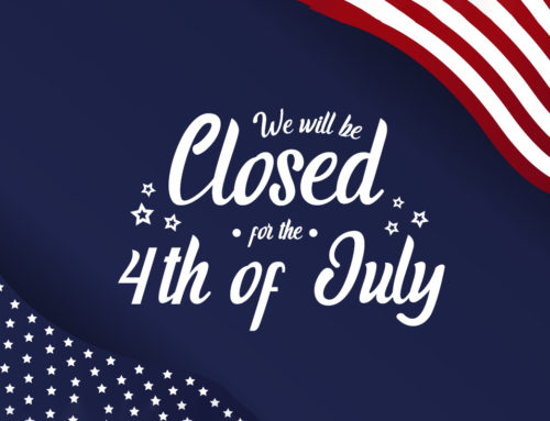 Closed for Independence Day – Thursday, July 4th 2019